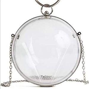 Handbags - NWT clear acrylic hand purse